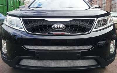 Защита радиатора KIA Sorento 2013- chrome середина