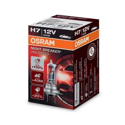 Лампа H7 55W 12V PX26D  OSRAM Xenarc Night  Breaker Unlimited +110%