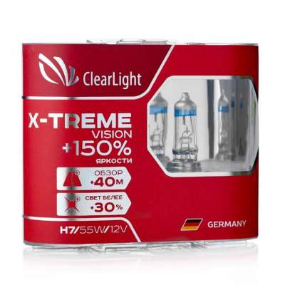 Лампа H7(Clearlight)12V-55W X-treme Vision +150% Light (2 шт.)